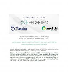 Comunicato stampa FEDERTEC – Dopo un 2020 in negativo, nel primo trimestre 2021 ordini a doppia cifra